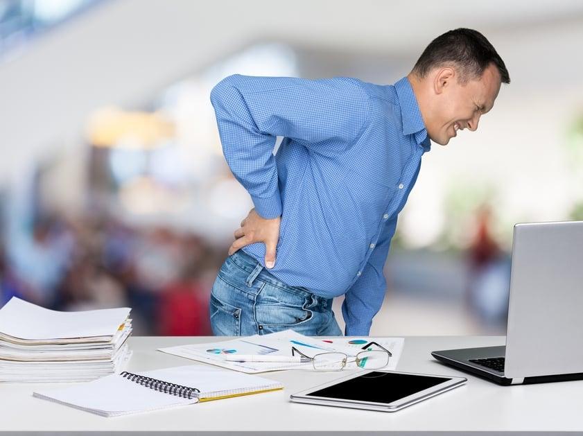 Nugaros skausmai, disko išvarža, juosmens srities skausmai